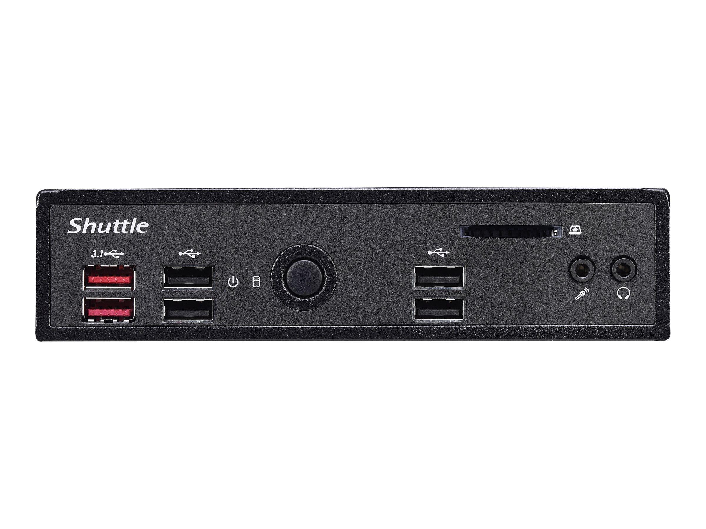Shuttle XPC slim DS10U7 - Barebone - Slim-PC - 1 x Core i7 8565U / 1.8 GHz ULV - UHD Graphics 620 - GigE