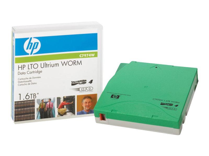 HPE - LTO Ultrium WORM 4 - 800 GB / 1.6 TB - ohne Etikett - für HPE MSL4048; StorageWorks Enterprise Modular Library E-Series; S