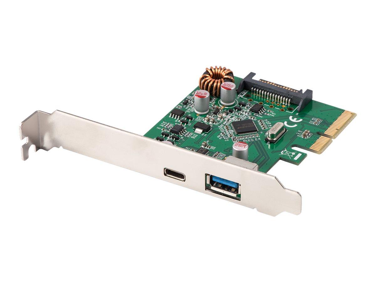 Lindy - USB-Adapter - PCIe 3.0 x4 - USB 3.1 x 1 + USB-C x 1