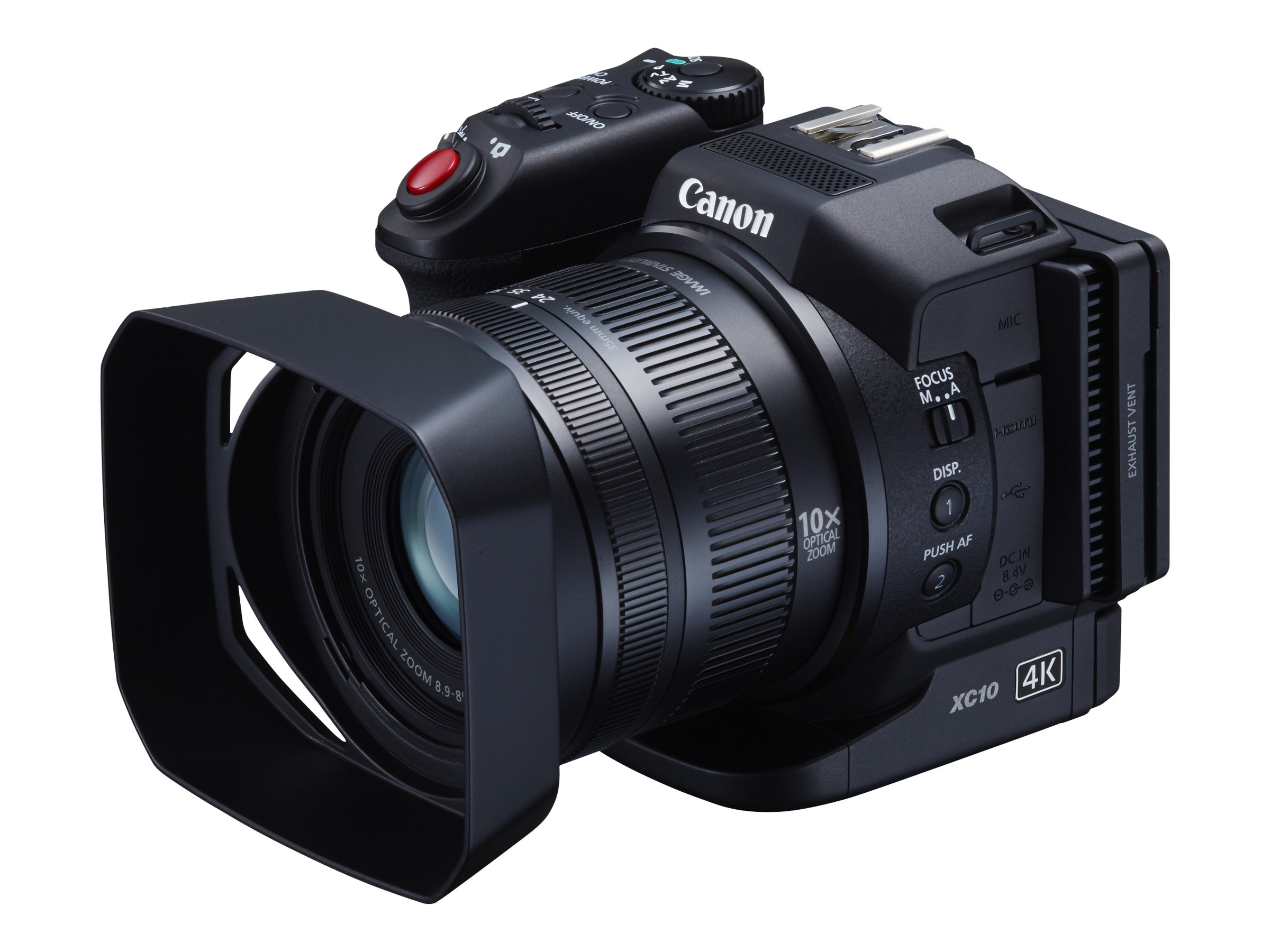 Canon XC10 - Camcorder - 4K - 13.36 MPix - 10x optischer Zoom - Flash-Karte