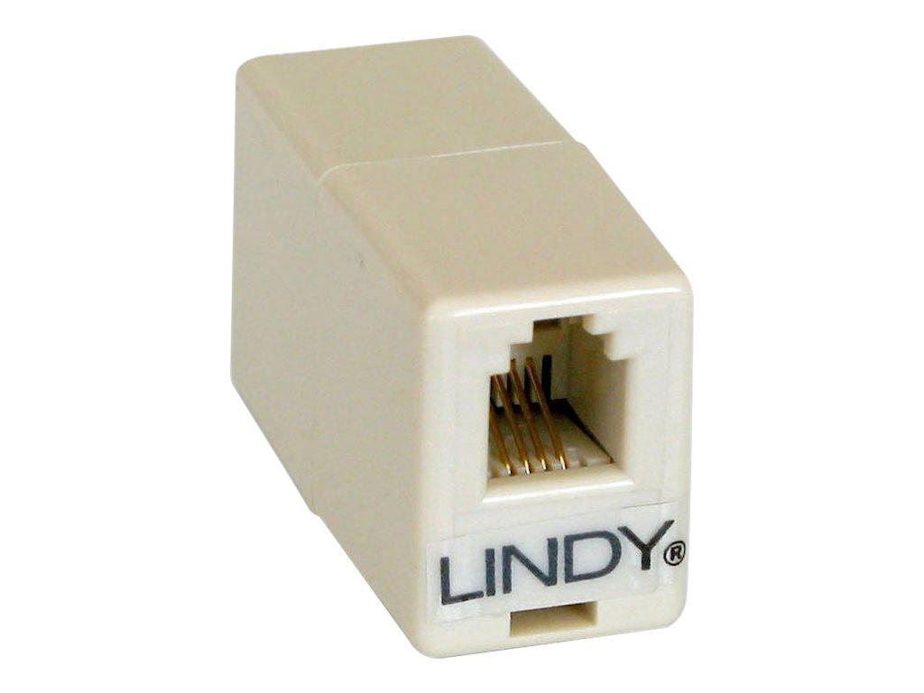 Lindy - Telefonkoppler - RJ-10 (W) bis RJ-10 (W)