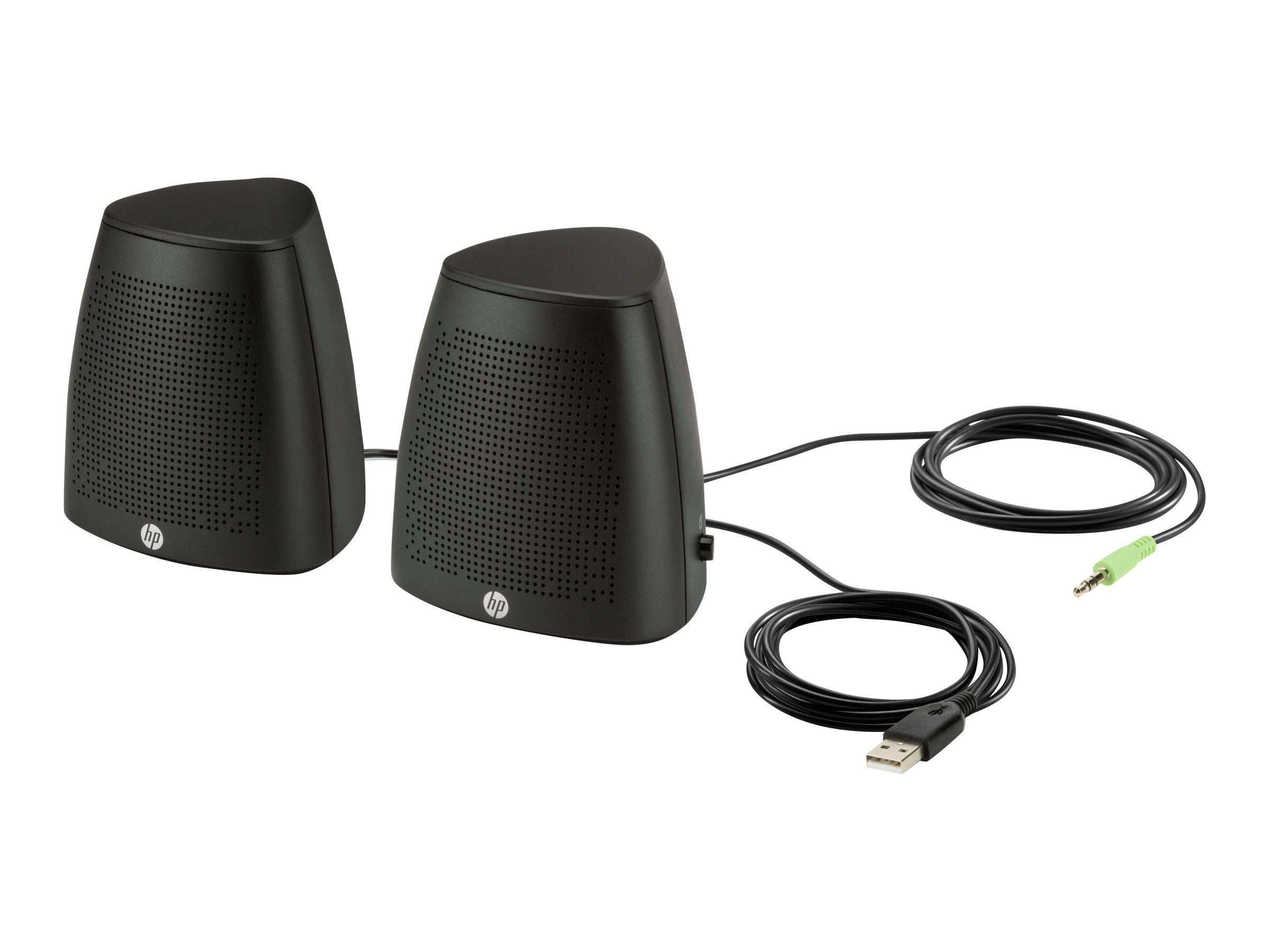 HP S3100 - Lautsprecher - für PC - 2.4 Watt (Gesamt) - Schwarz - für OMEN by HP 17; OMEN X by HP 15, 17; HP 17; Pavilion 17