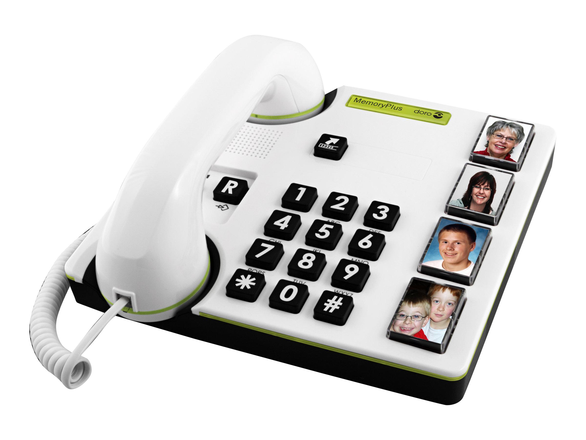 DORO MemoryPlus 319i ph - Telefon mit Schnur - weiss, Dunkelgrau