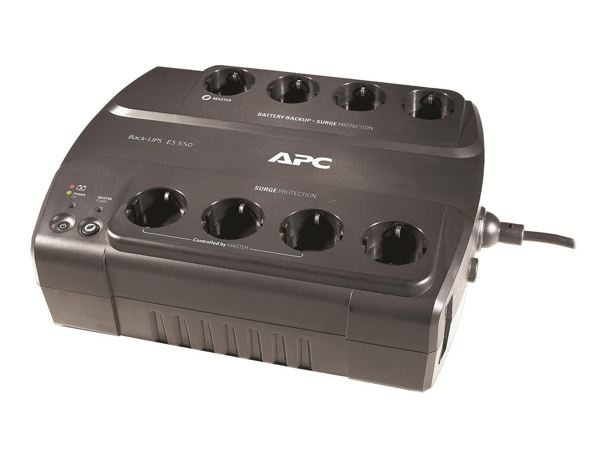 APC Back-UPS ES 550 - USV - Wechselstrom 230 V - 300 Watt - 550 VA - Ausgangsanschlüsse: 8