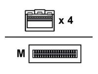 Mellanox - Direktanschlusskabel - QSFP28 bis SFP28 - 5 m - Glasfaser - aktiv