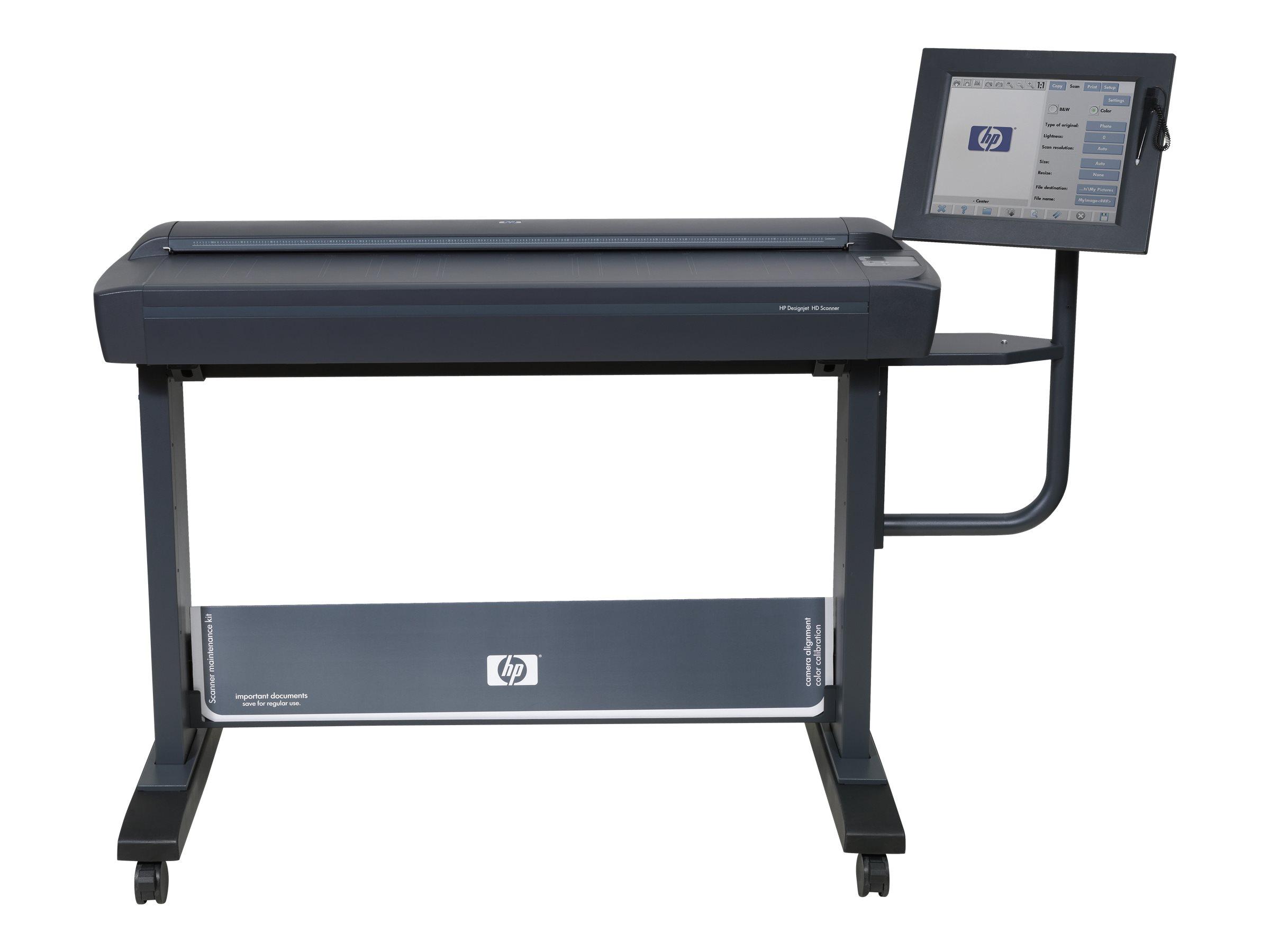 HP Designjet HD Scanner - Rollen-Scanner - Rolle 106,7 cm - 600 dpi x 600 dpi - USB, Gigabit LAN