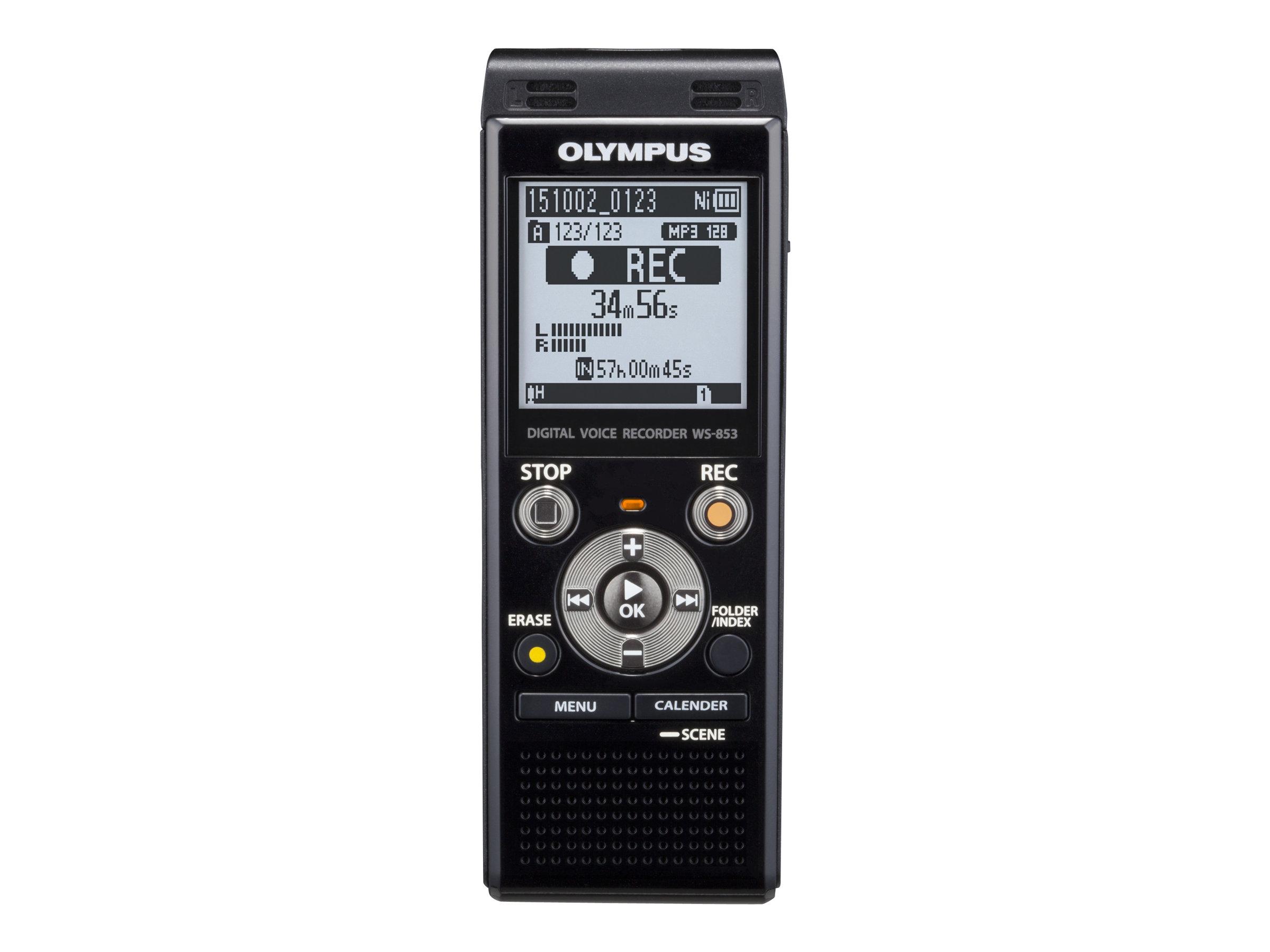 Olympus WS-853 - Voicerecorder - 250 mW - 8 GB - Schwarz