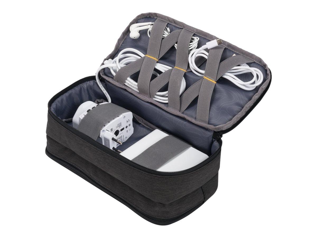 DICOTA Accessories Pouch STYLE - Tasche für Zubehör von Mobilgeräten - 600D Polyester - Schwarz