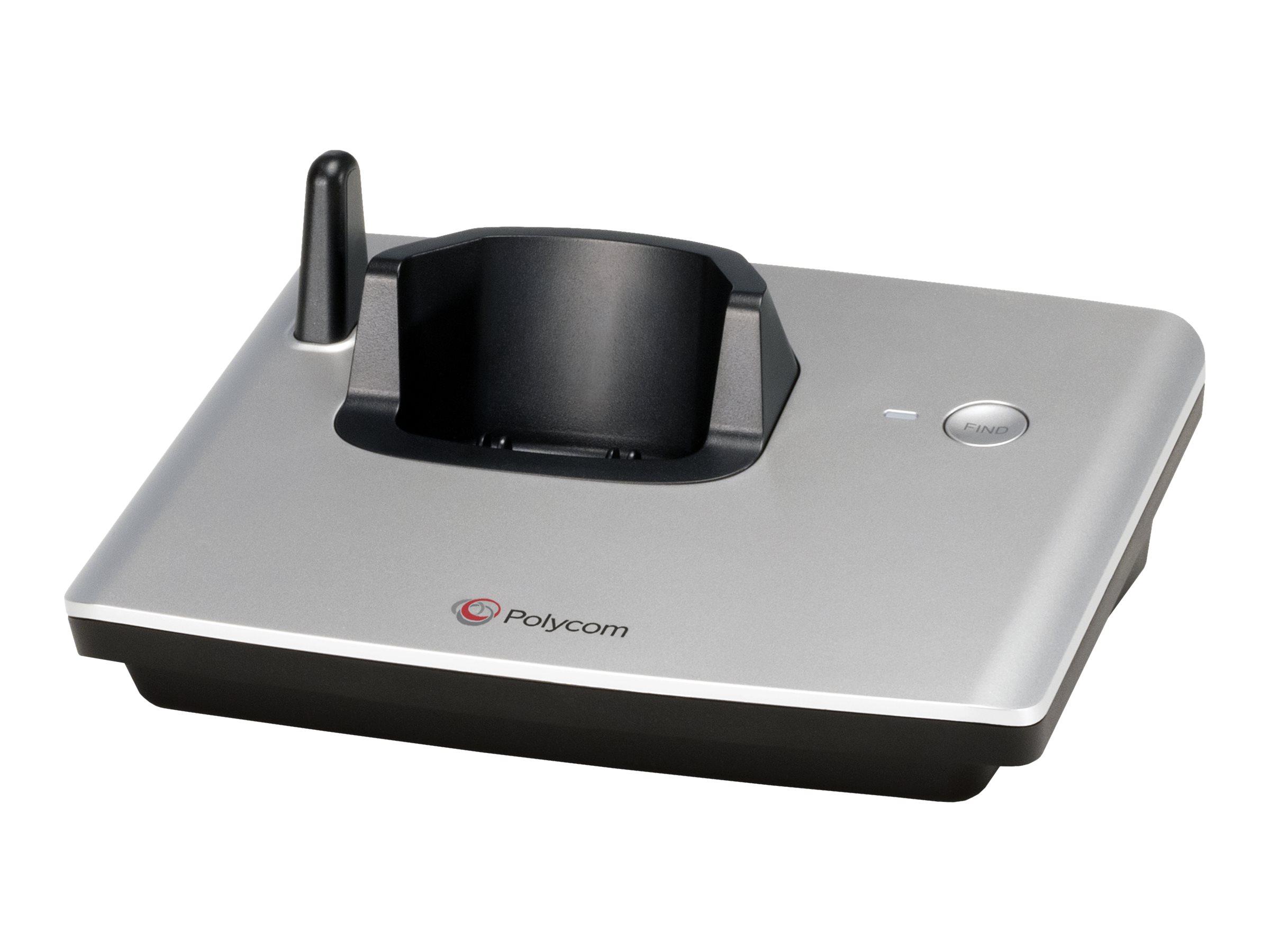 Polycom VVX D60 - Schnurloses VoIP-Telefon - DECT - SIP, SDP - 4 Leitungen