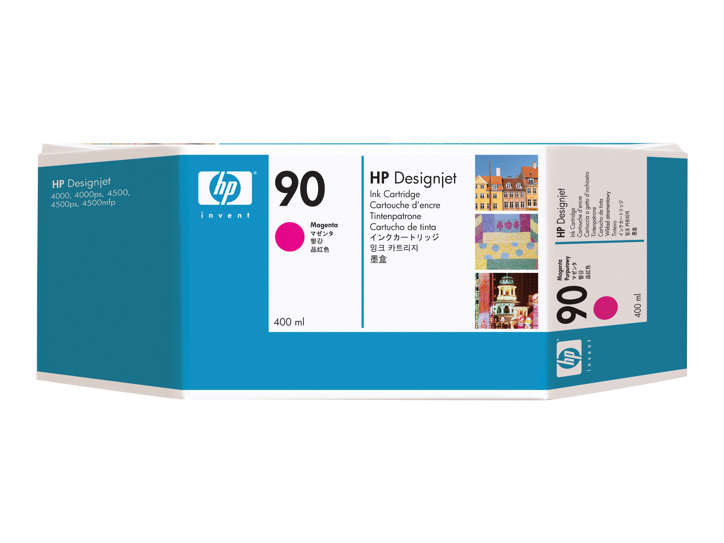 HP 90 - 3er-Pack - 400 ml - Magenta - Original - Tintenpatrone