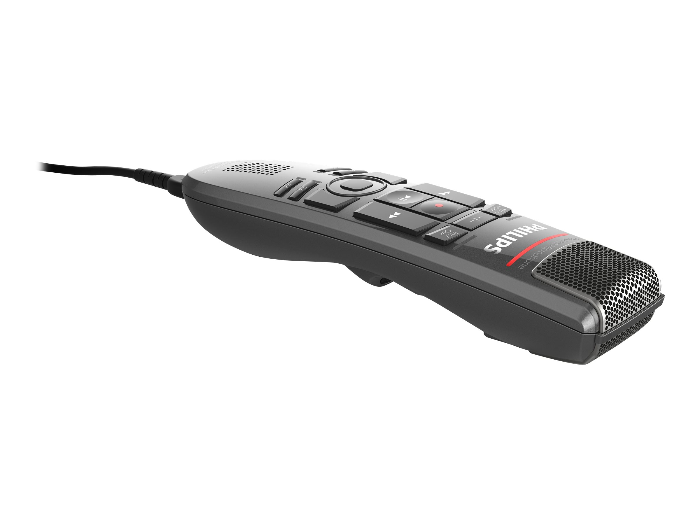 Philips SpeechMike Premium Touch SMP3700 - Lautsprechermikrofon - USB - dunkelgrau perlfarben metallisch