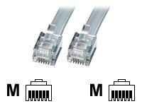 Lindy - Telefonkabel - RJ-12 (M) bis RJ-12 (M) - 50 m