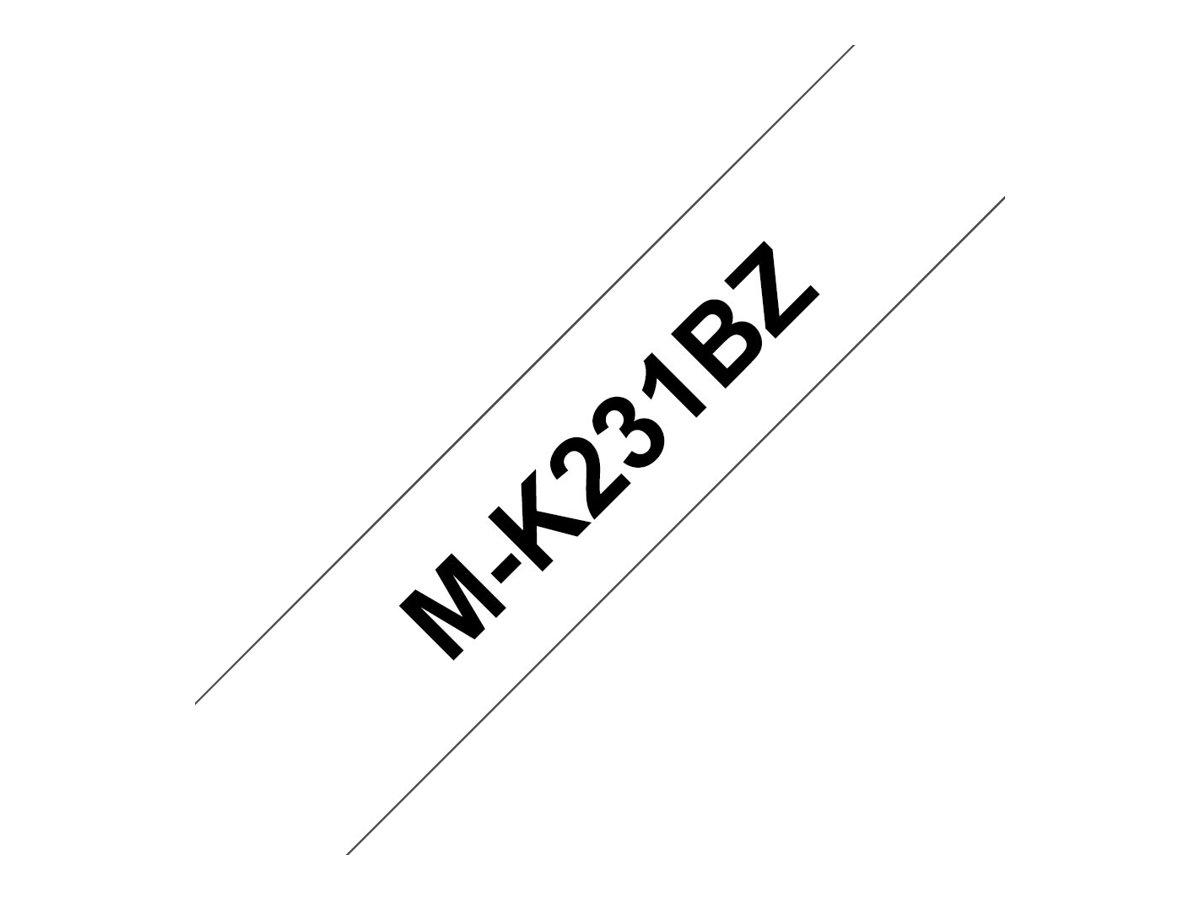Brother MK231BZ - Schwarz auf Weiss - Rolle (1,2 cm x 8 m) 1 Rolle(n) Etikettenband - für P-Touch PT-55, PT-65, PT-75, PT-80, PT