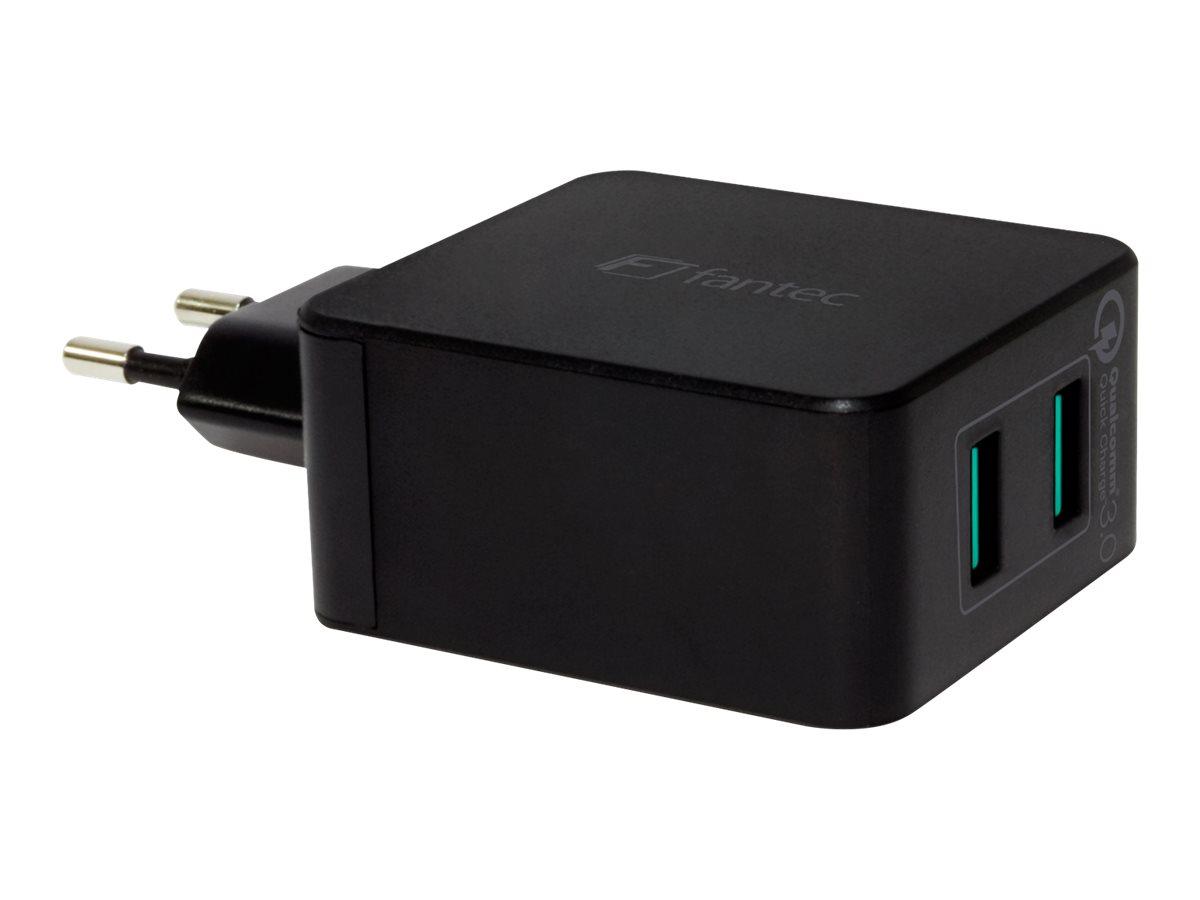 FANTEC QC3-A22 - Netzteil - 36 Watt - QC 3.0 - 2 Ausgabeanschlussstellen (USB Typ A)