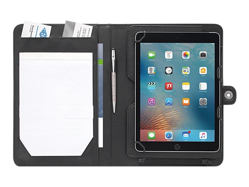 WEDO organizer ACCENTO - Mappe mit Reissverschluss Flip-Hülle für Tablet - Kunstleder - Schwarz - 10.5
