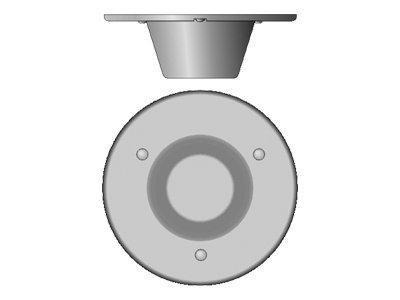 Cisco Multiband In-Building Omnidirectional Ceiling-Mount Antenna - Antenne - ungerichtet - Deckenmontage möglich - Grau