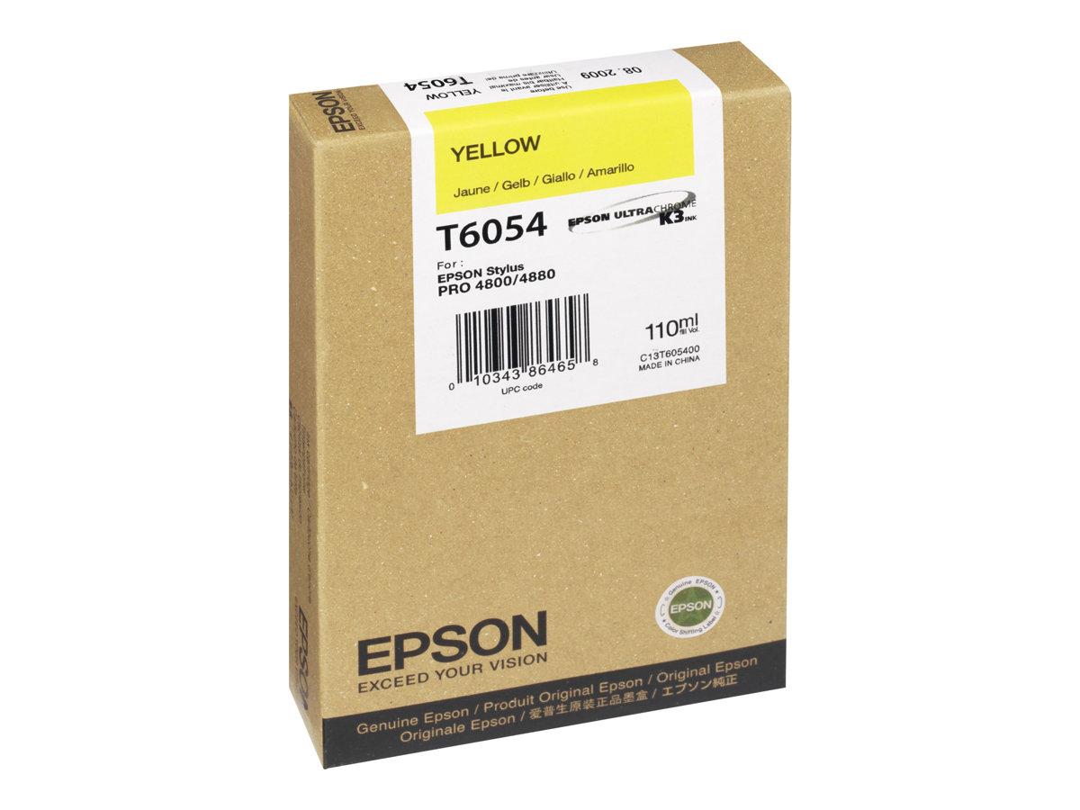 Epson T6054 - 110 ml - Gelb - Original - Tintenpatrone - für Stylus Pro 4800, Pro 4880, Pro 4880 AGFA