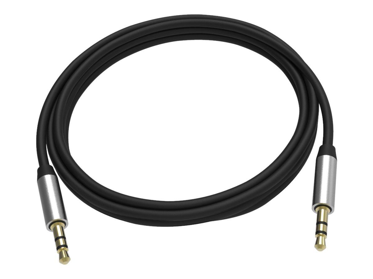 VISION Professional - Audiokabel - Stereo Mini-Klinkenstecker (M) bis Stereo Mini-Klinkenstecker (M) - 2 m - abgeschirmt - Schwa