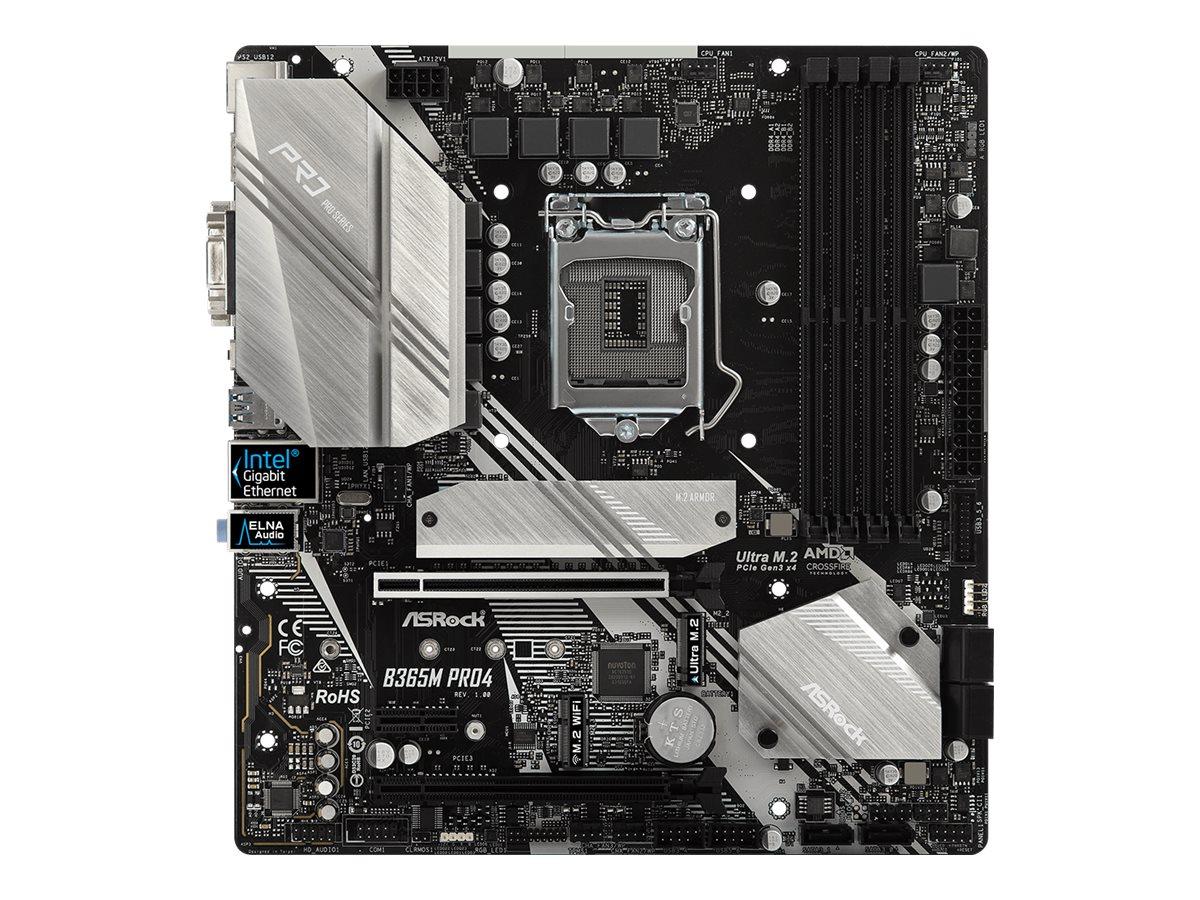 ASRock B365M Pro4 - Motherboard - micro ATX - LGA1151 Socket - B365 - USB 3.1 Gen 1, USB-C Gen1
