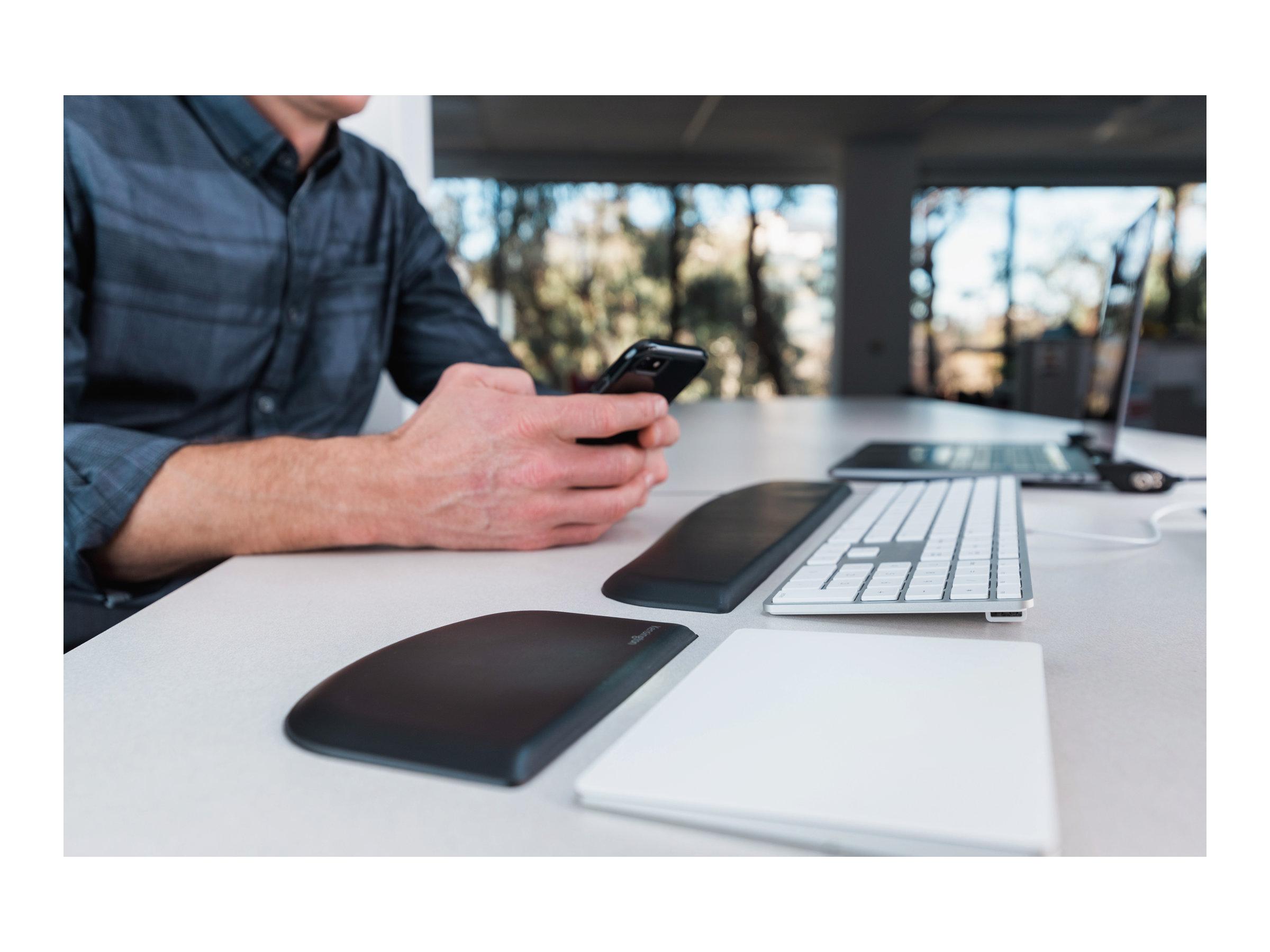 Kensington ERGOSOFT WR SLIM KBS - Tastatur-Handgelenkauflage - Schwarz