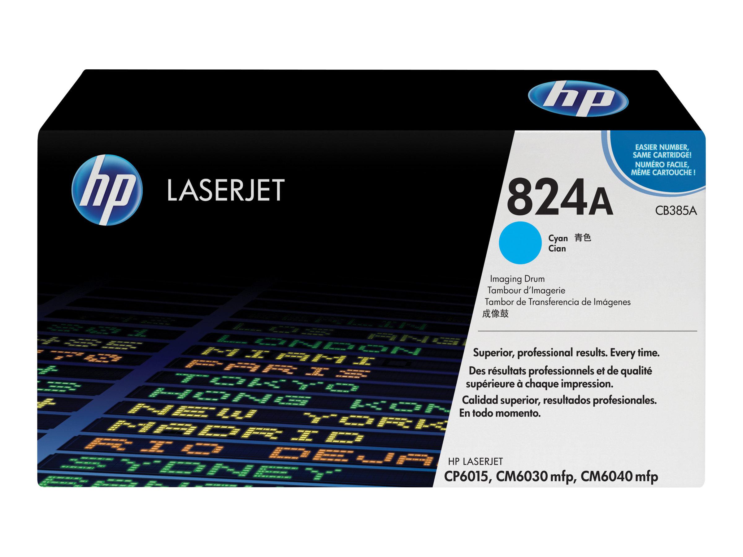 HP 824A - Cyan - Trommel-Kit - für Color LaserJet CL2000, CM6030, CM6040, CP6015