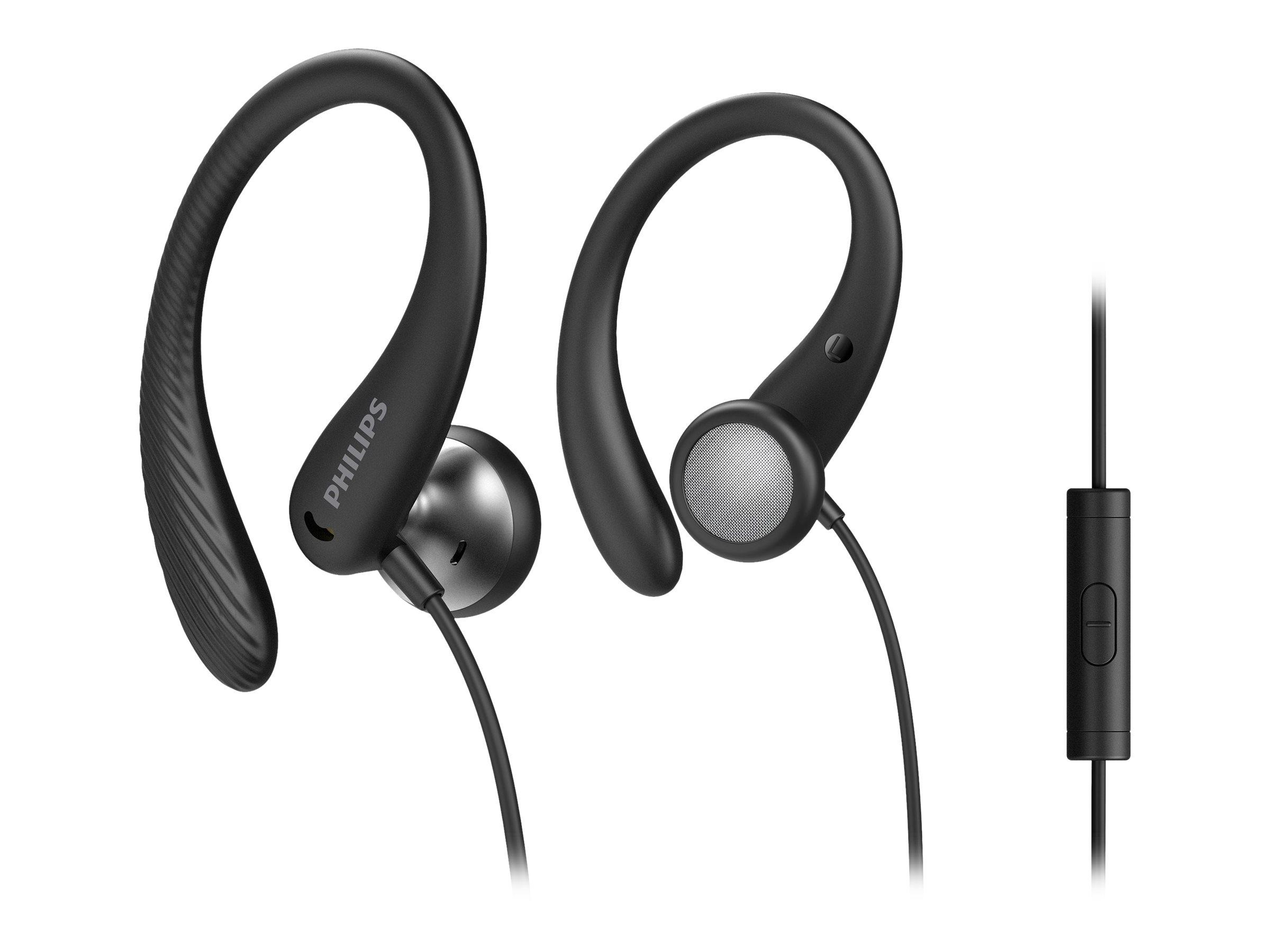 Philips TAA1105BK - Ohrhörer mit Mikrofon - Ohrstöpsel - über dem Ohr angebracht - kabelgebunden - 3,5 mm Stecker