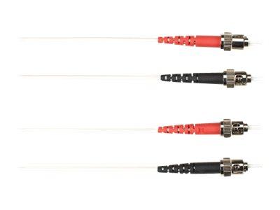 Black Box - Patch-Kabel - ST multi-mode (M) bis ST multi-mode (M) - 25 m - Glasfaser - weiss