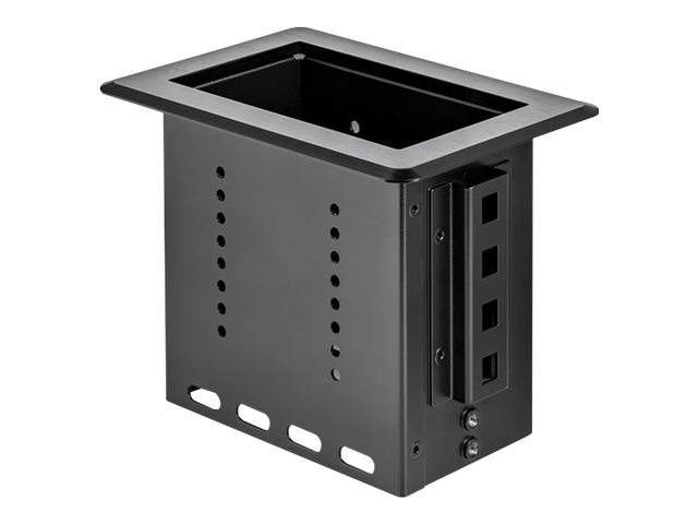 StarTech.com Single-Module Conference Table Connectivity Box-Customizable - Befestigungsplatte - Schwarz