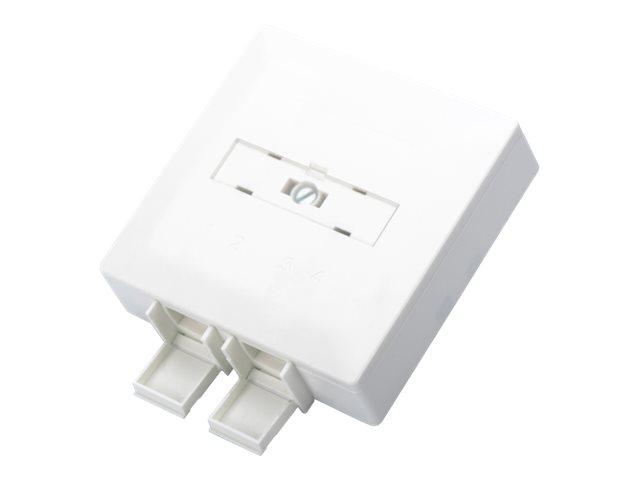DIGITUS DN-931087D FTTH - Ausgang - geeignet für Wandmontage - weiss, RAL 9010 - 2 Ports