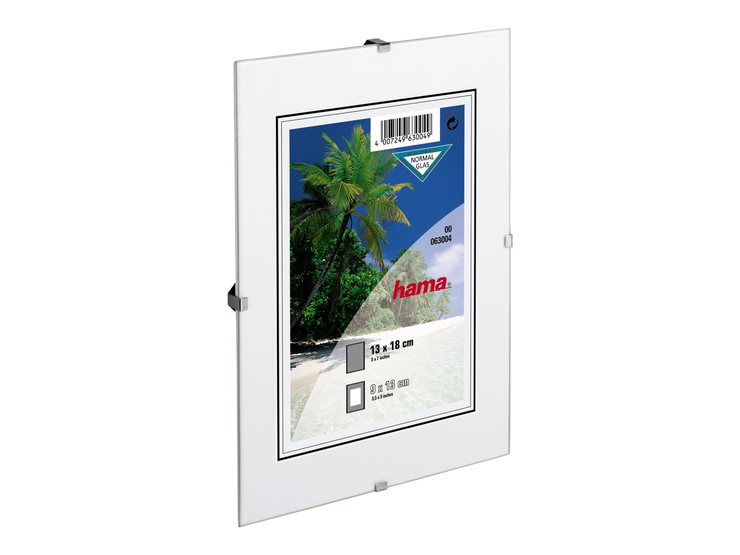Hama Frameless Picture Holder Clip-Fix - Fotohalter - Konzipiert für: 30 x 45 cm - Glas - rechteckig