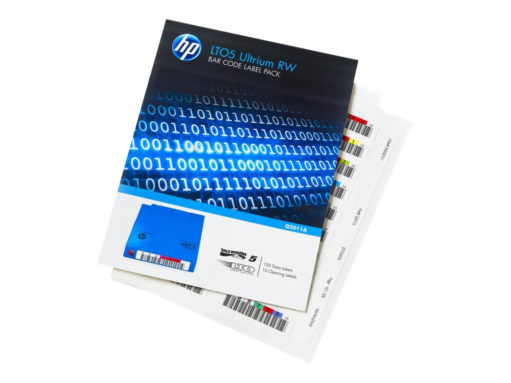 HPE LTO-5 Ultrium RW Bar Code Label Pack - Strichcodeetiketten - für HPE MSL2024, MSL4048, MSL8096; LTO-5 Ultrium; StoreEver MSL