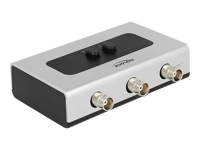 DeLock Switch BNC 2 port manual bidirectional - Video-Schalter - 2 x Composite Video - Desktop