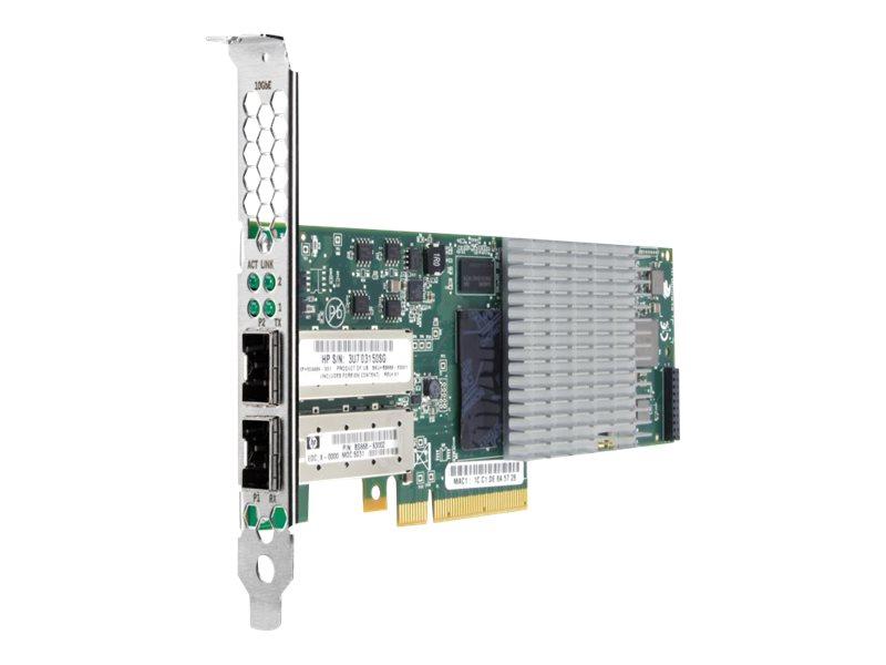HPE StorageWorks CN1000Q - Netzwerkadapter - PCIe 2.0 x8 - 10 GigE - 2 Anschlüsse - für ProLiant DL165 G7, DL360 G7, DL360e Gen8