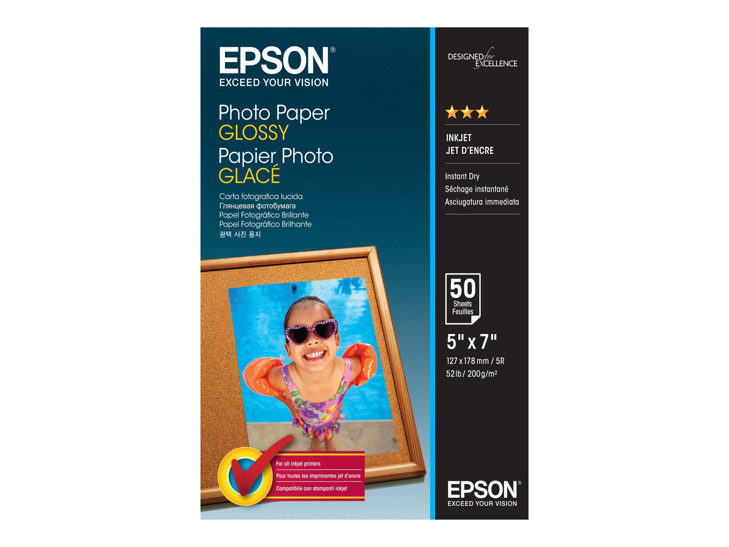 Epson - Glänzend - 127 x 178 mm - 200 g/m² - 50 Blatt Fotopapier - für EcoTank ET-2751, 2756; Expression Home HD XP-15000; Expre