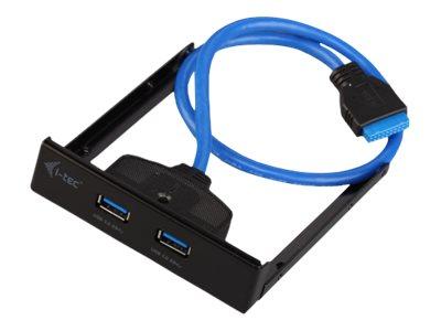 i-Tec USB 3.0 Extender - Anschlüsse am vorderen Bedienfeld des Speicherschachts - USB 3.0 x 2