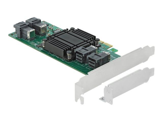 DeLOCK PCI Express x8 Card to 4 x internal SFF-8643 NVMe - Speicher-Controller - U.2 NVMe Low-Profile - 32 Gbit/s - PCIe 3.0 x8