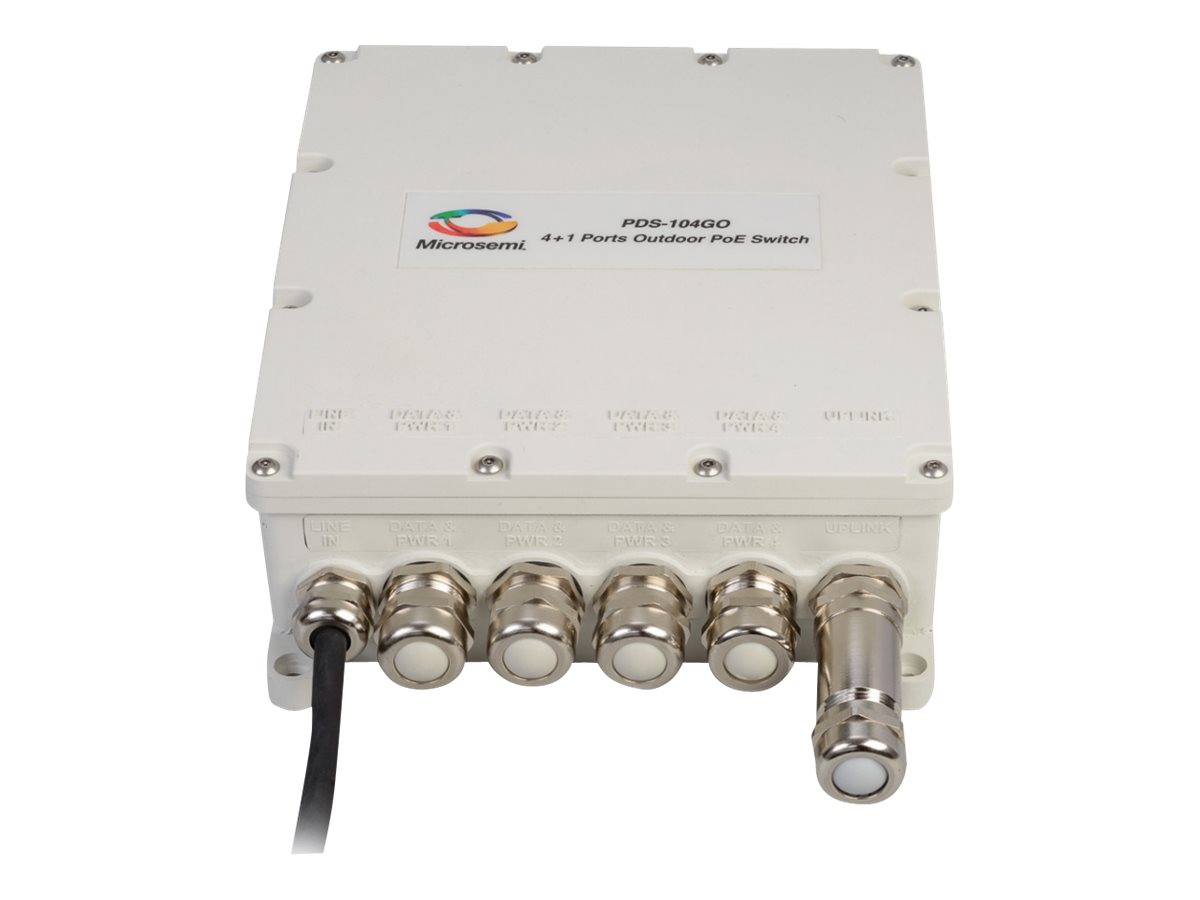 Microsemi PDS-104GO - Switch - verwaltet - 4 x 10/100/1000 (PoE) + 1 x SFP - PoE (150 W)