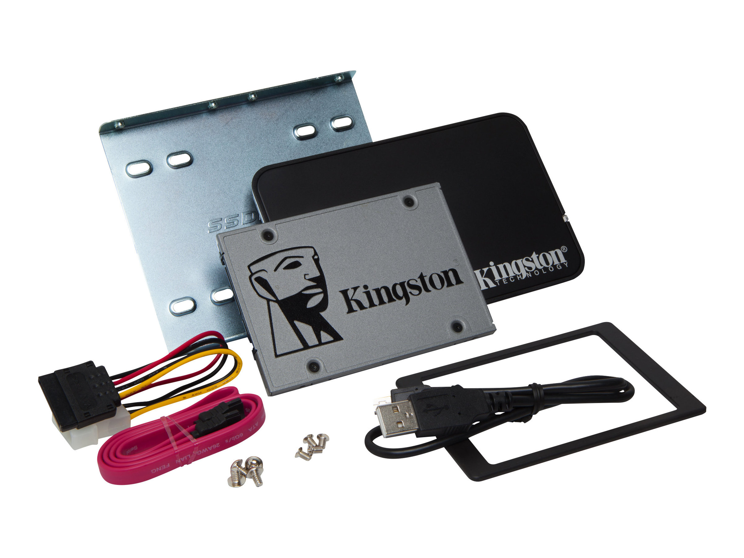 Kingston UV500 Desktop/Notebook upgrade kit - Solid-State-Disk - verschlüsselt - 240 GB - intern - 2.5