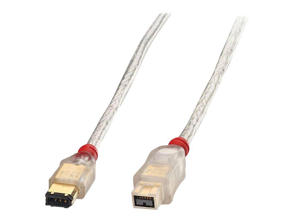 Lindy Premium - IEEE 1394-Kabel - FireWire, 6-polig (M) bis FireWire 800 (M) - 1 m - geformt - durchsichtig
