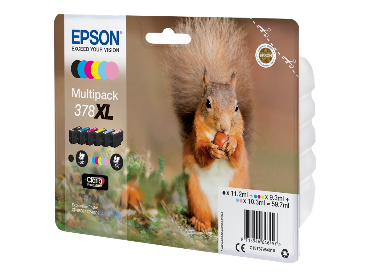 Epson 378XL Multipack - 6er-Pack - XL - Schwarz, Gelb, Cyan, Magenta, hell Magenta, hell Cyan - Original - Blisterverpackung