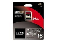 Sony - Flash-Speicherkarte - 16 GB - Class 10 - SDHC UHS-I - für Handycam HDR-CX250E