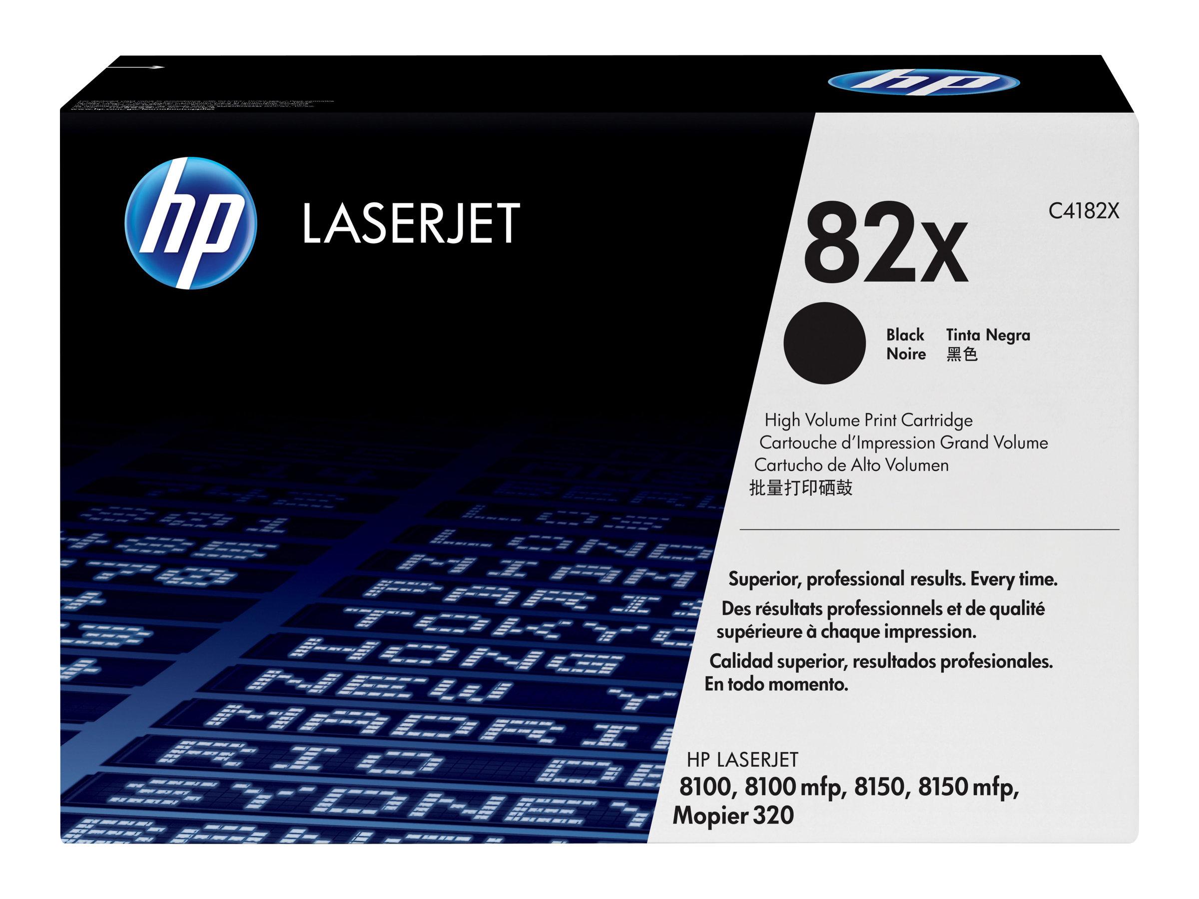 HP 82X - Hohe Ergiebigkeit - Schwarz - Original - LaserJet - Tonerpatrone (C4182X)