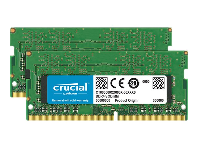 Crucial - DDR4 - 16 GB: 2 x 8 GB - SO DIMM 260-PIN - 3200 MHz / PC4-25600 - CL22