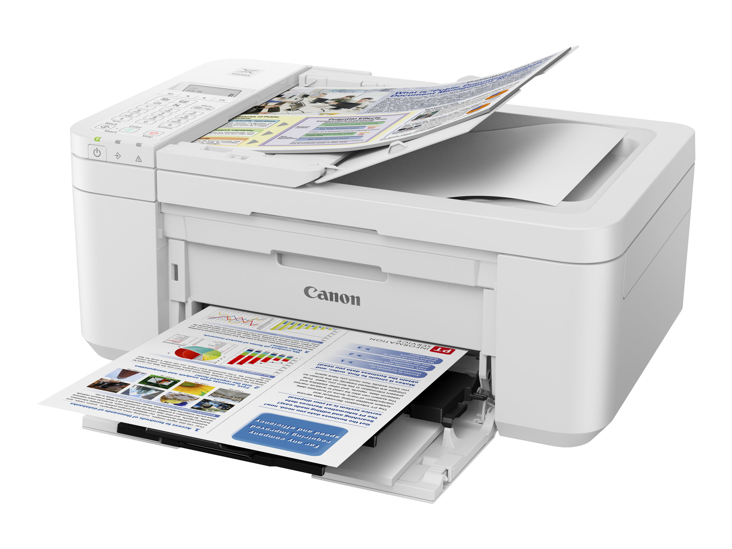 Canon PIXMA TR4551 - Multifunktionsdrucker - Farbe - Tintenstrahl - A4 (210 x 297 mm), Legal (216 x 356 mm) (Original) - A4/Lega