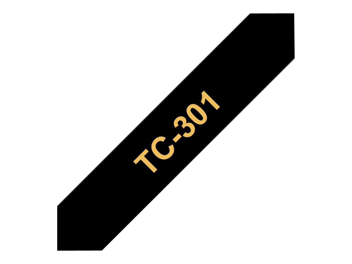 Brother TC301 - Gold auf schwarz - (1 Rolle(n) laminiertes Band