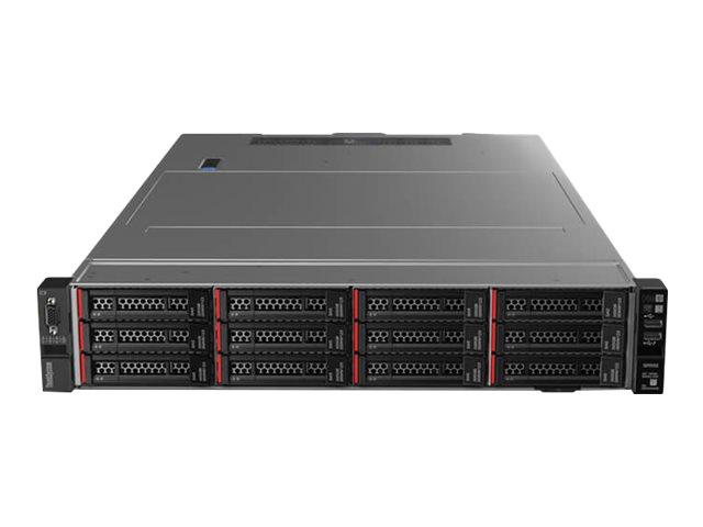 Lenovo ThinkSystem SR550 7X04 - Server - Rack-Montage - 2U - zweiweg - 1 x Xeon Silver 4208 / 2.1 GHz