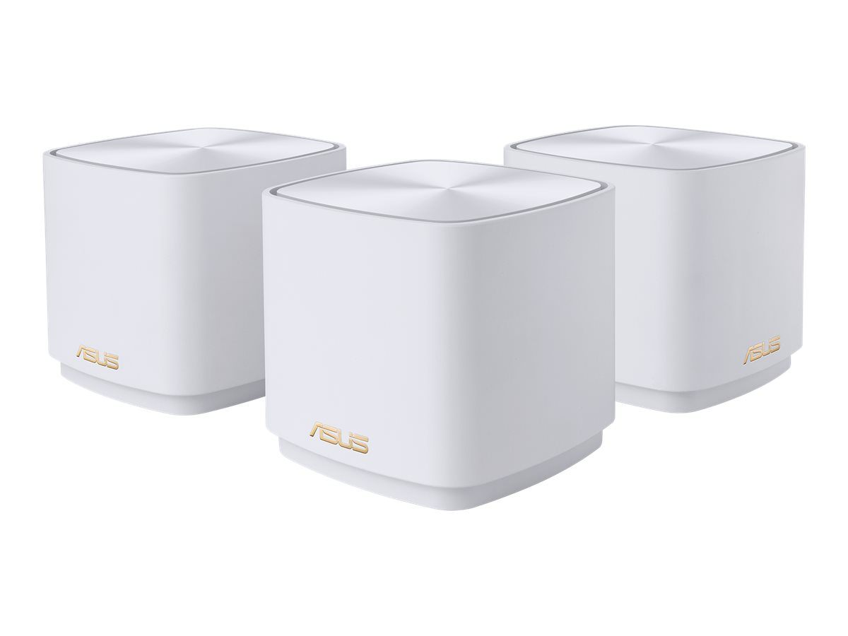 ASUS ZenWiFi AX Mini (XD4) - WLAN-System (2 Router) - up to 3,300 sq.ft - Netz - GigE, 802.11ax - 802.11a/b/g/n/ac/ax