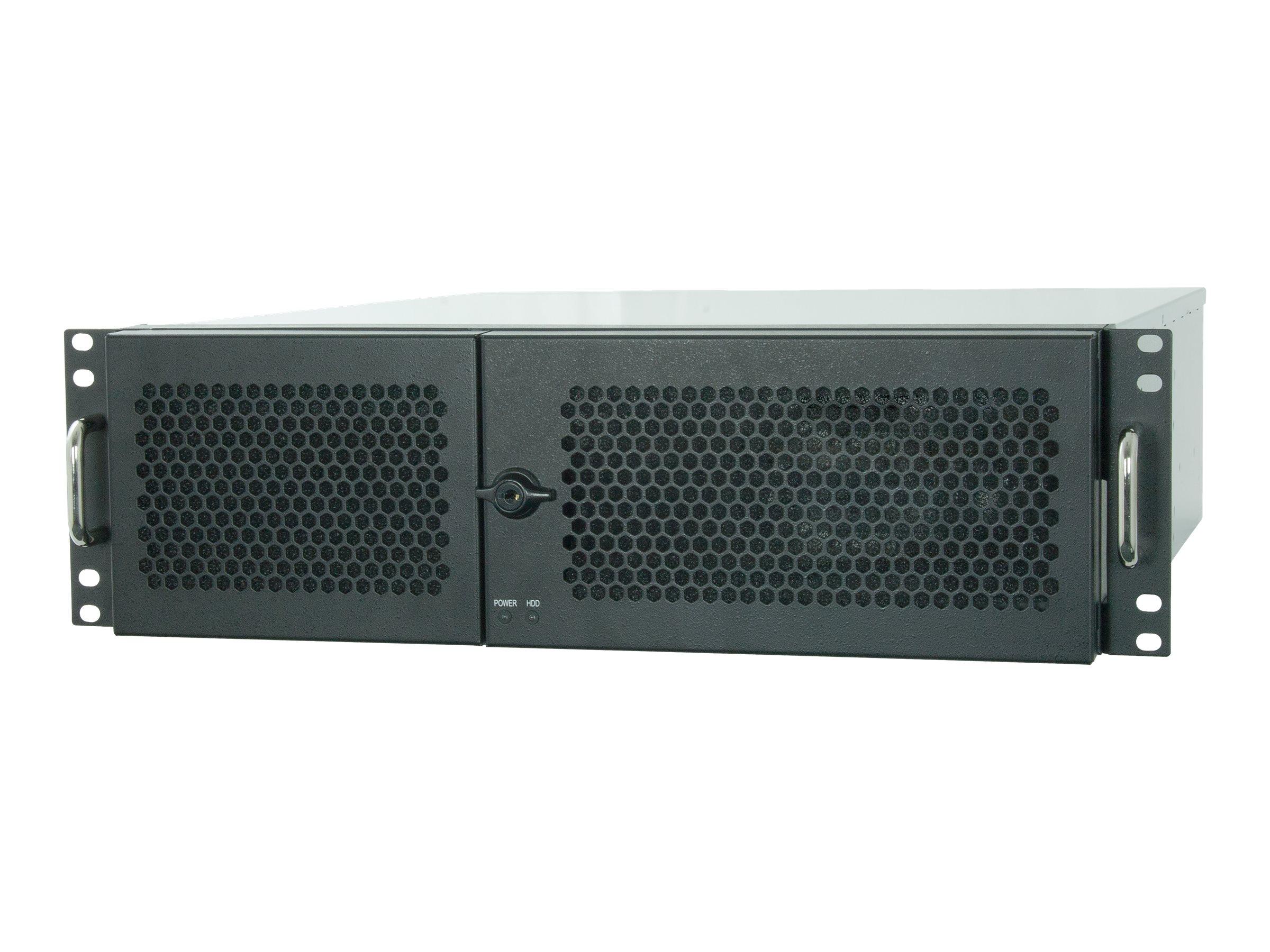Chieftec UNC-310A-B - Rack - einbaufähig - 3U - ATX 400 Watt (ATX) - Schwarz