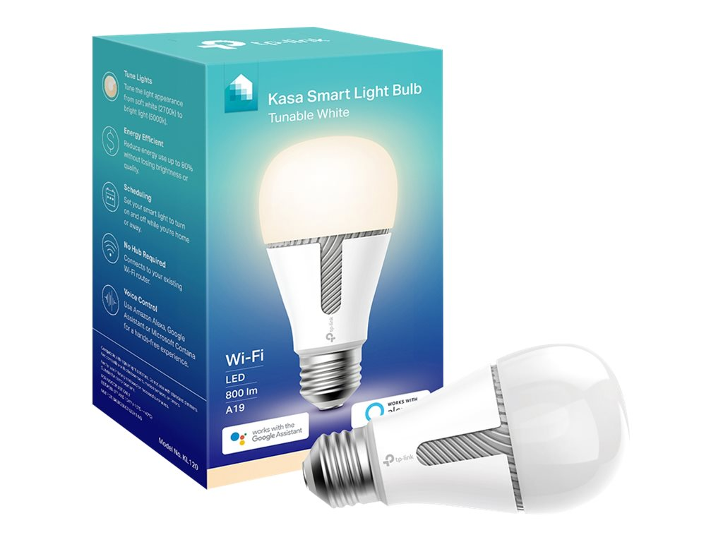 TP-Link KL120 - LED-Lampe - Form: A19 - E26 - 10 W (Entsprechung 60 W) - sanft weiss/Tageslicht