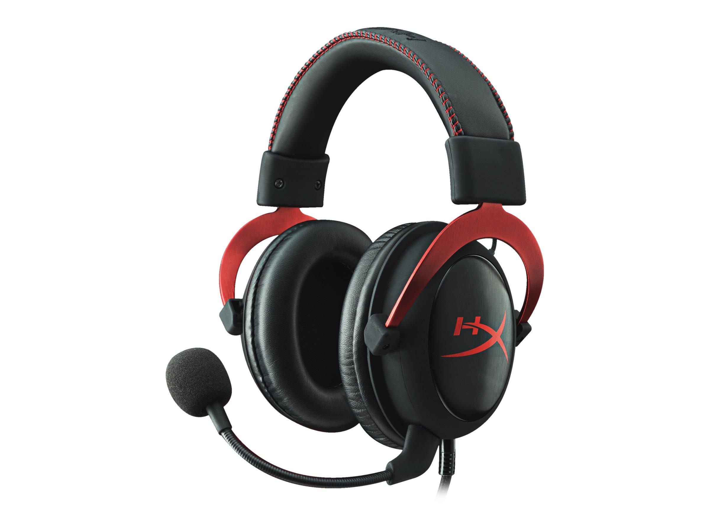 HyperX Cloud II - Headset - ohrumschliessend - kabelgebunden - Rot
